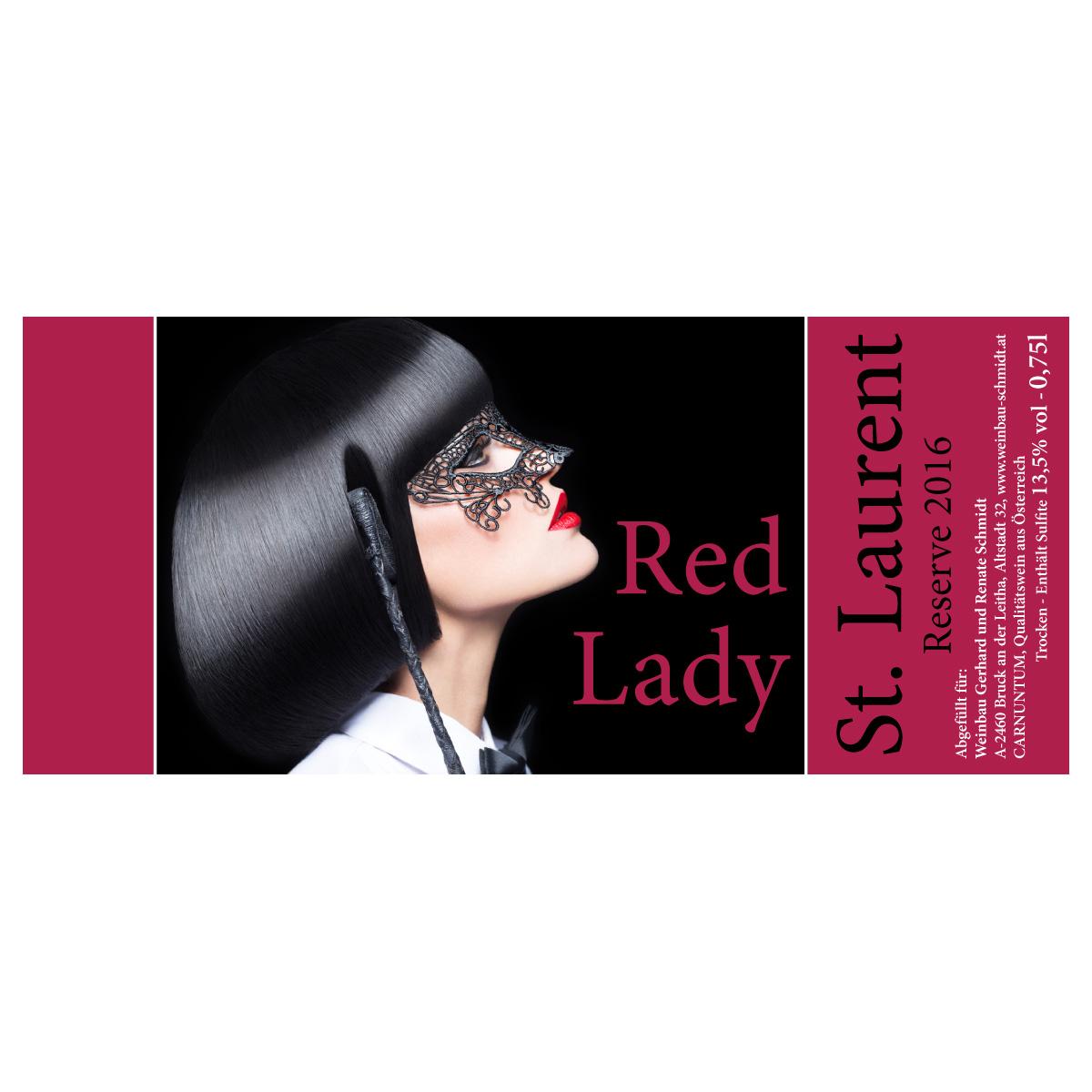 DARKtoyzzz-Weinetikett - Red Lady
