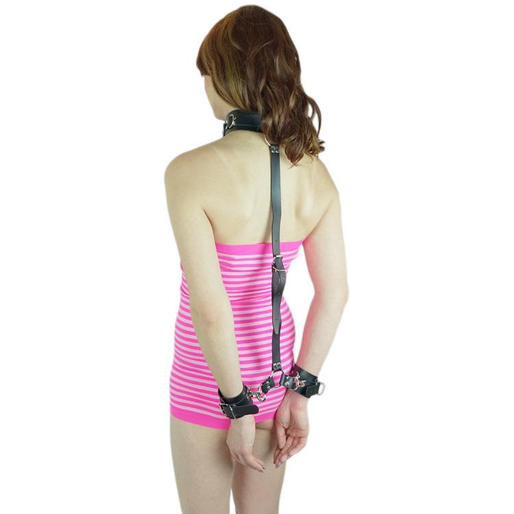 SELFBONDAGE-KIT Hals-Hand-Rückenfessel