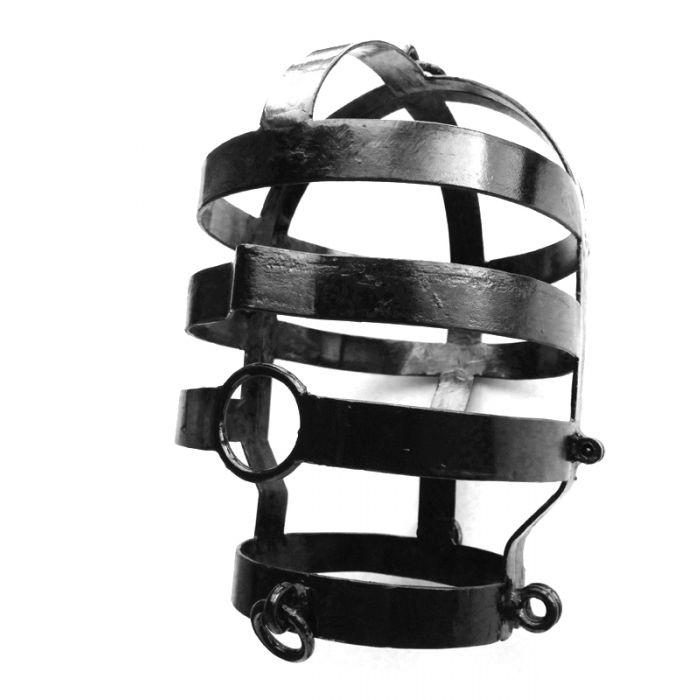 Edelstahl-Kopfkäfig schwarz lackiert