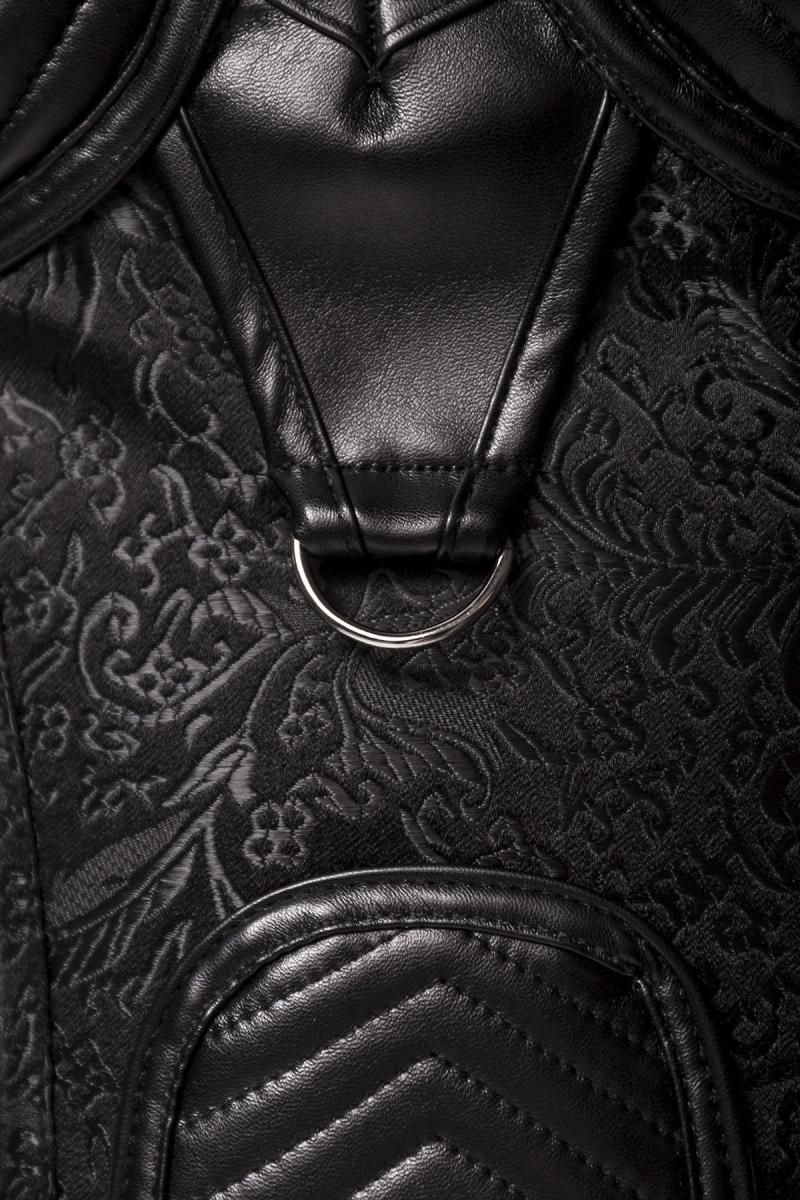 GREY VELVET - Corsage mit asymmetrischem Schulterteil