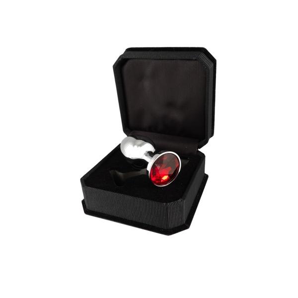 Buttplug klein mit rotem Kristall