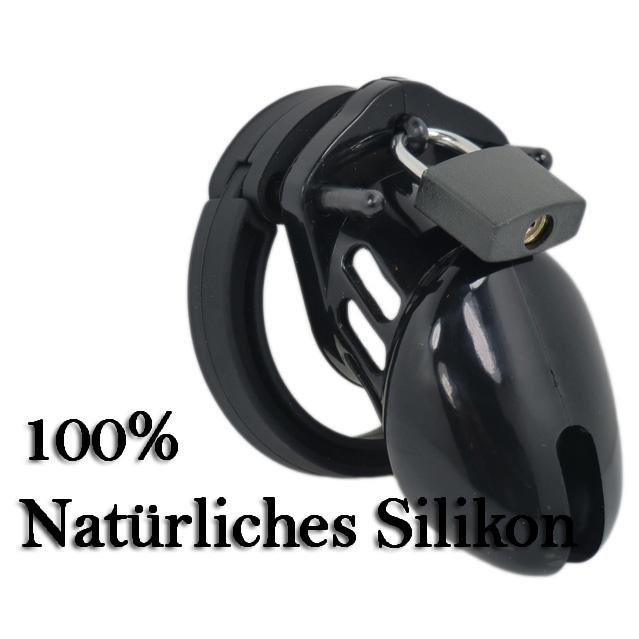 Male Chastity CB-XS Silikon black Peniskäfig