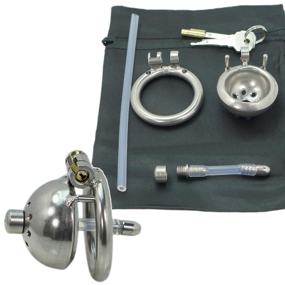 Edelstahl-MINIMAL-Peniskäfig mit Dilator