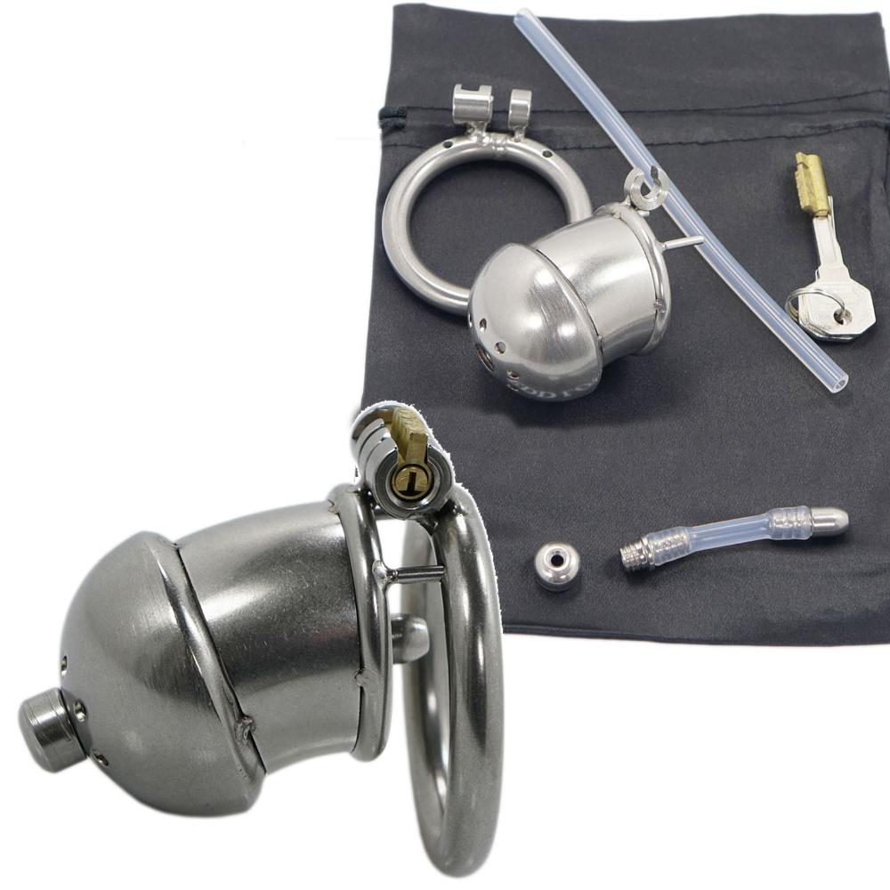 Edelstahl-Peniskäfig ZERO mit Dilator klein